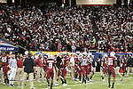 South Carolina Gamecock fans twirl their version of the terrible towels to get their team going at pregame.
