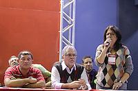 SAO PAULO, SP, 22.05.2015 - LULA-SP -  A Deputada Estadual e líder da Minoria, Beth Sahão, durante a abertura da etapa estadual de São Paulo do 5º Congresso do Partido dos Trabalhadores na quadra dos Bancários, na região central de São Paulo, SP, nesta sexta-feira, 22. (Foto: Fernando Neves/ Brazil Photo Press)