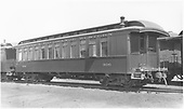 Coach #306 with bay window at Alamosa.<br /> D&amp;RGW  Alamosa, CO  7/1/1938