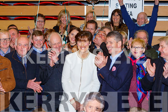 Norma Foley FF celebrates her election at the count in Killarney on Monday evening