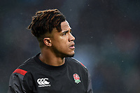 Anthony Watson of England looks on during the pre-match warm-up. Old Mutual Wealth Series International match between England and Australia on November 18, 2017 at Twickenham Stadium in London, England. Photo by: Patrick Khachfe / Onside Images
