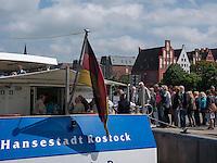 Fähre im Stadthafen von Rostock, Mecklenburg-Vorpommern, Deutschland