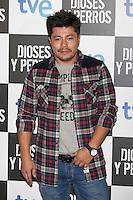 Oscar Reyes poses at `Dioses y perros´ film premiere photocall in Madrid, Spain. October 07, 2014. (ALTERPHOTOS/Victor Blanco) /nortephoto.com