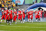 Illinois State players enter the field before the FCS Championship game between the North Dakota State Bison and the Illinois State Redbirds at the Toyota Stadium in Frisco, Texas. North Dakota defeats Illinois 29 to 27.