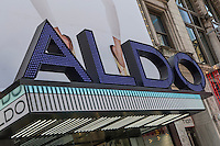"""An Aldo store is pictured in the New York City borough of Manhattan, NY, Monday May 12, 2014. The ALDO Group (corporately styled """"ALDO"""") is a private Canadian corporation that owns and operates a worldwide chain of shoe and accessory stores."""