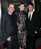 "HOLLYWOOD, LOS ANGELES, CA, USA - APRIL 03: Mike Flanagan, Karen Gillan, Matt Smith at the Los Angeles Screening Of Relativity Media's ""Oculus"" held at TCL Chinese 6 Theatre on April 3, 2014 in Hollywood, Los Angeles, California, United States. (Photo by Xavier Collin/Celebrity Monitor)"
