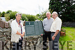 Pictured at the Old Graveyard in Kenmare are Caitriona O'Neill (Graveyard Committee), Pat O'Neill (Rural Social Scheme Supervisor) and Bertie McSwiney (Graveyard Committee) with the new historical information plaque which will be erected at the entrance to the Old Graveyard.