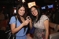 Lisa Lucena and Amber Lu attend the Happy Groups Launch Party at the Luxe Lounge at Lucky Strike, on May 22 in New York City.