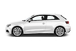 Car Driver side profile view of a 2017 Audi A3 Sport 3 Door Hatchback Side View