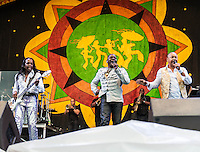 Earth, Wind, and Fire perform at the 2013 New Orleans Jazz and Heritage Festival on April 28, 2013 in New Orleans, LA. © HIGH ISO Music, LLC / Retna, Ltd.