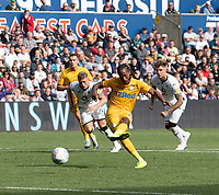 Preston North End's Daniel Johnson takes the penalty to scores his side's second goal <br /> <br /> Photographer David Horton/CameraSport<br /> <br /> The EFL Sky Bet Championship - Swansea City v Preston North End - Saturday 17th August 2019 - Liberty Stadium - Swansea<br /> <br /> World Copyright © 2019 CameraSport. All rights reserved. 43 Linden Ave. Countesthorpe. Leicester. England. LE8 5PG - Tel: +44 (0) 116 277 4147 - admin@camerasport.com - www.camerasport.com