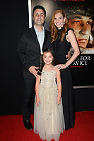 Stella La'Ren Pileggi &amp; Parents at the premiere for &quot;Thank You For Your Service&quot; at the Regal LA Live Theatre. Los Angeles, USA 23 October  2017<br /> Picture: Paul Smith/Featureflash/SilverHub 0208 004 5359 sales@silverhubmedia.com