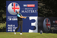 James Morrison (ENG) on the 3rd tee during Round 3 of the Sky Sports British Masters at Walton Heath Golf Club in Tadworth, Surrey, England on Saturday 13th Oct 2018.<br /> Picture:  Thos Caffrey | Golffile