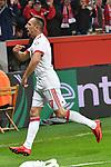 12.01.2018, BayArena, Leverkusen , GER, 1.FBL., Bayer 04 Leverkusen vs. FC Bayern M&uuml;nchen<br /> im Bild / picture shows: <br /> Torjubel / Jubel / Jubellauf,    Franck Ribery (Bayern Muenchen #7),  2:0 <br /> Foto &copy; nordphoto / Meuter