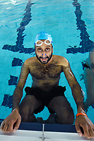 Swimming with Men (2018)<br /> Adeel Akhtar<br /> *Filmstill - Editorial Use Only*<br /> CAP/PLF<br /> Image supplied by Capital Pictures