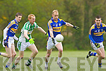 Pierce Brosnan Cordal breaks for goal under pressure from John Foley Listry during their County league game in Listry on Sunday