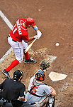 19 June 2011: Washington Nationals' third baseman Ryan Zimmerman in action against the Baltimore Orioles at Nationals Park in Washington, District of Columbia. The Orioles defeated the Nationals 7-4 in inter-league play, ending Washington's 8-game winning streak. Mandatory Credit: Ed Wolfstein Photo