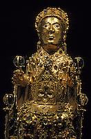 Europe/France/Auvergne/12/Aveyron/Conques: Trésor majesté de l'abbatiale Sainte Foy (XIème) en or (XIème et XIIème)