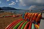 kayaks at Camp Richardson. Lake Tahoe