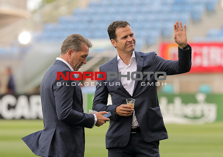 EM 2015 Qualifikationsspiel, Gibraltar vs. Deutschland<br /> Torwarttrainer Andreas K&ouml;pke (Deutschland), Team-Manager Oliver Bierhoff (Deutschland)<br /> <br /> <br /> Foto &copy; nordphoto /  Bratic