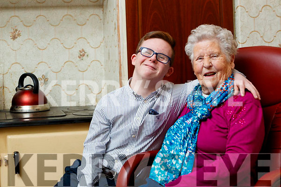 Dale O'Carroll this year's overall winner of the Lee Strand Garda Youth Achievement Awards pictured with his Grandmother Bridgie O'Carroll.