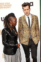 Mark Ronson and guest attend USA Network's 2012 Upfront Event at Lincoln Center's Alice Tully Hsll in New York, 17.05.2012.  Credit: Rolf Mueller/face to face /MediaPunch Inc. ***FOR USA ONLY***