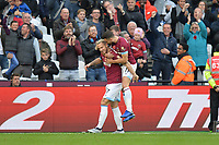 Marko Arnautovic Of West Ham United scores the first Goal and celebrate during West Ham United vs Burnley, Premier League Football at The London Stadium on 3rd November 2018