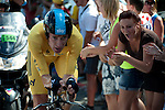 QUINGEY, FRANCE - JULY 09: During Stage 9, an individual time trial, of the Tour de France from Arc-et-Senans to Besancon on July 9, 2012 in Quingey, France. (Photo by Dirk Markgraf)
