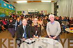 North Kerry Wind Turbine Awareness  Meeting: pictured at a meeting of the Noth Kerry Wind Turbine Awareness Group meeting held at Dromclough NS on Monday night last were Tony Carroll, Secretary, Aidan Linnane & Gerad Doyle, Chairman.