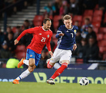 23.3.2018: Scotland v Costa Rica:<br /> Scott McTominay and Marcos Urena