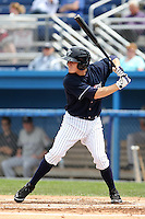 Empire State Yankees second baseman Corban Joseph #1 at bat during a game against the Louisville Bats at Dwyer Stadium on June 12, 2012 in Batavia, New York.  Empire State defeated Louisville 9-7.  (Mike Janes/Four Seam Images)