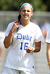 11 September 2011: Duke's Laura Weinberg. The Duke University Blue Devils defeated the University of North Carolina at Greensboro Spartans 2-0 at Koskinen Stadium in Durham, North Carolina in an NCAA Division I Women's Soccer game.