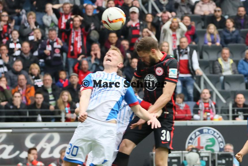 Philipp Ochs (Hoffenheim) gegen Luc Castaignos (Eintracht) - Eintracht Frankfurt vs. TSG 1899 Hoffenheim, Commerzbank Arena