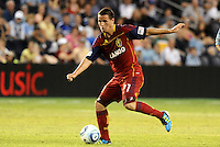 Luis Gil Real Salt Lake in action... Sporting Kansas City defeated Real Salt Lake 2-0 at LIVESTRONG Sporting Park, Kansas City, Kansas.