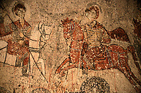 Byzantine fresco at St Onuphoius Church, Cappadocia, Turkey