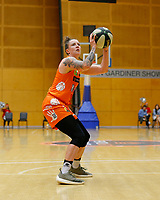 29th November 2019; Bendat Basketball Centre, Perth, Western Australia, Australia; Womens National Basketball League Australia, Perth Lynx versus Southside Flyers; Marina Whittle of the Perth Lynx stops in the key to take a jump shot - Editorial Use