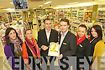 Celebrating the second birthday of the Ashe Street pharmacy on Friday were staff Jane Kerrisk, Vera Heim, Cathal DeLacy, Michael Ryle, Siobhain Whyte and Grainne Ryle.