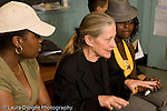 Education High School Public senior English class female teacher talking to students horizontal