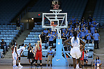 13 November 2015: Gardner-Webb's Tierra Huntsman (3) gives Gardner-Webb a lead from the free throw line with 32 seconds left in the game. The University of North Carolina Tar Heels hosted the Gardner-Webb University Runnin' Bulldogs at Carmichael Arena in Chapel Hill, North Carolina in a 2015-16 NCAA Division I Women's Basketball game. Gardner-Webb won the game 66-65.