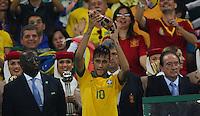 RIO DE JANEIRO, 30.06.2013 - COPA DAS CONFEDERAÇÕES - FINAL - BRASIL X ESPANHA - Neymar do Brasil  durante partida da final da Copa das Confederações Estádio do Maracanã, na zona norte do Rio de Janeiro, neste domingo, 30. (Foto: Vanessa Carvalho / Brazil Photo Press)