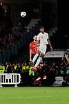Spain's Nacho Fernandez and England's Marcus Rashford during UEFA Nations League 2019 match between Spain and England at Benito Villamarin stadium in Sevilla, Spain. October 15, 2018. (ALTERPHOTOS/A. Perez Meca)