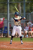 Mount St. Mary's Mountaineers pinch hitter Trevor Leamer (32) bats during a game against the Ball State Cardinals on March 9, 2019 at North Charlotte Regional Park in Port Charlotte, Florida.  Ball State defeated Mount St. Mary's 12-9.  (Mike Janes/Four Seam Images)