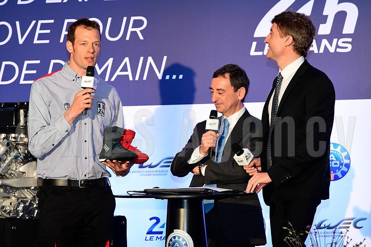 PIERRE FILLON (FRA) PRESIDENT AUTOMOBILE CLUB DE L'OUEST ALEX WURZ GRAND MARSHALL DES 24 HEURES 2016