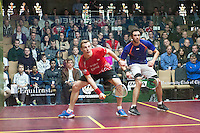 Nick Matthew (ENG) vs. Ramy Ahsour (EGY in the semifinals of the 2014 METROsquash Windy City Open held at the University Club of Chicago in Chicago, IL on March 2, 2014