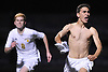 Alessandro Sambone #19 of Massapequa, right, reacts after scoring the game-winning goal on a penalty kick in overtime to lift the Chiefs to a 2-1 win over Syosset in the Nassau County Class AA varsity boys soccer semifinals at Cold Spring Harbor High School on Monday, Oct. 31, 2016.