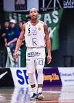 S&ouml;dert&auml;lje 2014-04-15 Basket SM-Semifinal 5 S&ouml;dert&auml;lje Kings - Uppsala Basket :  <br /> Uppsalas Thomas Jackson <br /> (Foto: Kenta J&ouml;nsson) Nyckelord:  S&ouml;dert&auml;lje Kings SBBK Uppsala Basket SM Semifinal Semi T&auml;ljehallen portr&auml;tt portrait