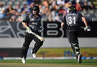 Colin Munro and Martin Guptill.<br /> New Zealand Black Caps v Australia.Tri-Series International Twenty20 cricket. Eden Park, Auckland, New Zealand. Friday 16 February 2018. &copy; Copyright Photo: Andrew Cornaga / www.Photosport.nz
