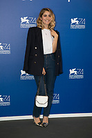 Greta Scarano attends the jury photocall during the 74th Venice Film Festival at Palazzo del Cinema in Venice, Italy, on 30 August 2017. Photo: Hubert Boesl  - NO WIRE SERVICE - Photo: Hubert Boesl/ /MediaPunch ***FOR USA ONLY***