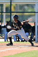 Pittsburgh Pirates outfielder Candon Myles (74) during a minor league spring training intrasquad game on March 30, 2014 at Pirate City in Bradenton, Florida.  (Mike Janes/Four Seam Images)