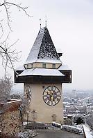 Uhrturm auf dem Schlossberg, Graz, Steiermark, &Ouml;sterreich<br /> Clock tower on castle hill, Graz, Styria, Austria